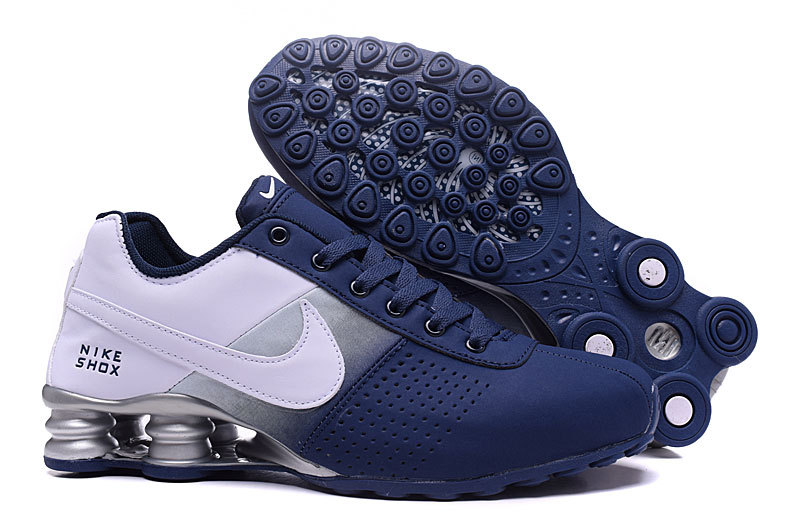NEW WOMEN NIKE SHOX DELIVER WHITE GREY BLUE SHOES